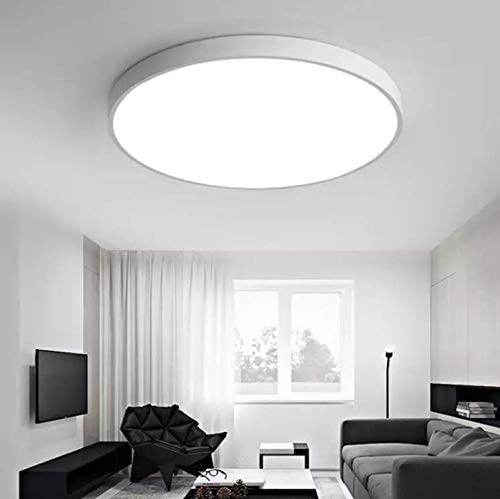 Flush Mount Ceiling Light – 28W LED Matte White Daylight Ultra Thin 5CM Environmental-Frie ...