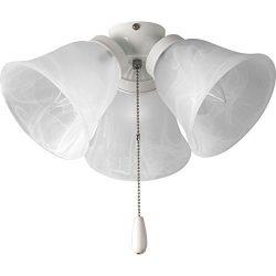 Progress Lighting P2642-30 3-Light Universal Fan Light Kit, White