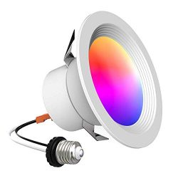 iLintek Smart Recessed Lighting – Lumary 4 inch WiFi Led Downlight Color Changing Recessed ...