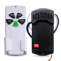 Universal Ceiling Fan Remote Control and Receiver Kit Replacement of Hampton Bay Harbor Breeze H ...