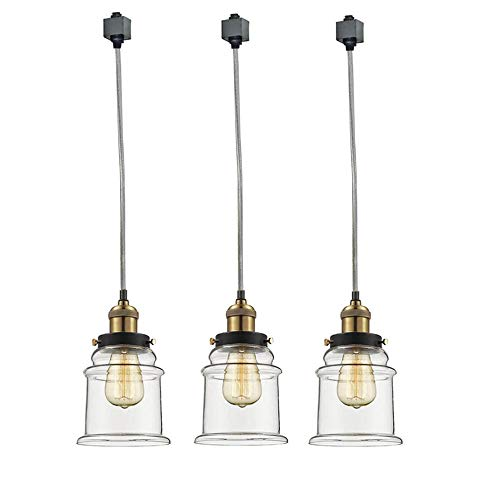 Vintage Brass Track Lighting: Kiven Set Of 3 H-Type Track Lighting Industrial Kitchen