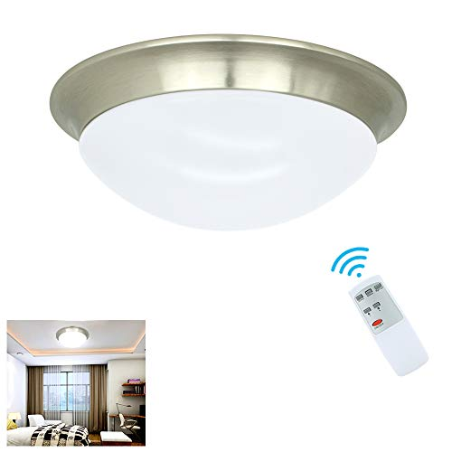 24w Led Dimmable Ceiling Light Round Flush Mounted Fixture: W-LITE 24W Dimmable LED Disk Light, Flush Mount Ceiling