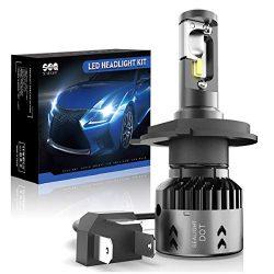 H4/9003 LED Motorcycle Headlight Bulbs SEALIGHT HB2 Hi/Lo Beam LED Headlamp with Fan 6000K Xenon ...