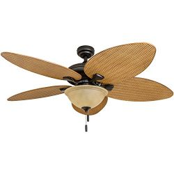 Honeywell Ceiling Fans 50507-01 Palm Island 52-Inch Tropical Ceiling Fan with Tuscan Bowl Light, ...