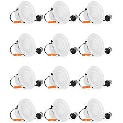 SHINE HAI 4 Inch LED Recessed Lighting Dimmable, 65W Equivalent, 3000K Soft White, 750Lm, 4IN LE ...