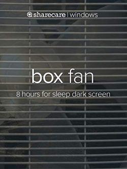 Box Fan 8 hours for sleep and meditation dark screen