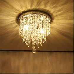 Beyonds Supreme Luxury Ceiling Light Flush Mounted Crystal Ceiling Lamp, 9.84″ X 9.8″ ...