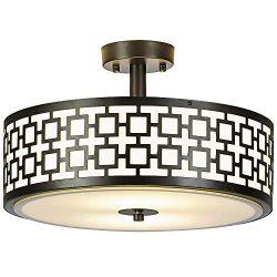 COTULIN 2 Light Modern Bedroom Living Room Flush Mount Ceiling Light,Ceiling Light Fixture Black ...