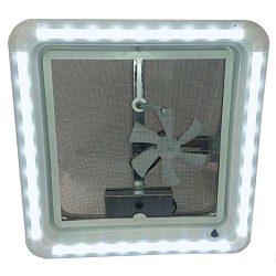 Heng's HG-LR-W-WW-AFT LED Vent Trim Kit, White Lens Ring Diffuser – Warm White Light