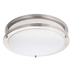 Drosbey 24W LED Ceiling Light Fixture, 10in Flush Mount Light Fixture, Ceiling Lamp for Bedroom, ...