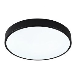 SAISHUO Round LED Flush Mount, 15.7in 24W 6000K(Cold White), Ultra-Thin Ceiling Light Fixture fo ...
