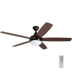 Prominence Home 80093-01 Ashby Ceiling Fan with Remote Control and Dimmable Integrated LED Light ...