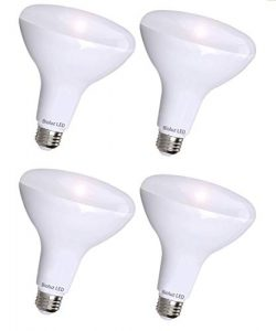 4 Pack Brightest BR40 LED Bulbs by Bioluz LED – INSTANT ON Warm LED Energy Saving Bulbs, 17w (12 ...