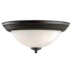 Design House 514489 Millbridge 2 Light Ceiling Light, Oil Rubbed Bronze