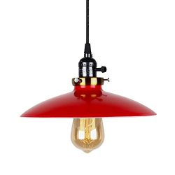 T&A UFO Industrial Pendant Lights Edison Vintage Style,1 Light Kitchen Antique Brass Hanging ...