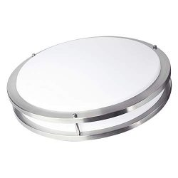 OSTWIN 18-inch Large size LED Ceiling Light Fixture Flush Mount, Dimmable, Round 28 Watt (180W R ...