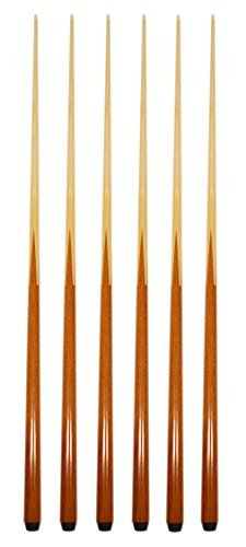 Set of 6 Pool Cues New 57″ Real 4-Prong House Bar Billiard Pool Cue Stick