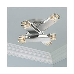 Possini Euro Design Three Stacked Rods Ceiling Light Fixture – Possini Euro Design