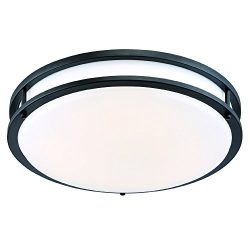 Designers Fountain EV1416L30-34 16 in. Oil Rubbed Bronze/White Low-Profile LED Ceiling Light