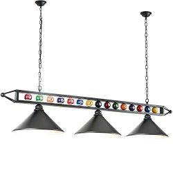 Hanging Pool Table Lamp, Billiard Light, 3 Pendant Light for Game Room, Dinning Room, Living Roo ...