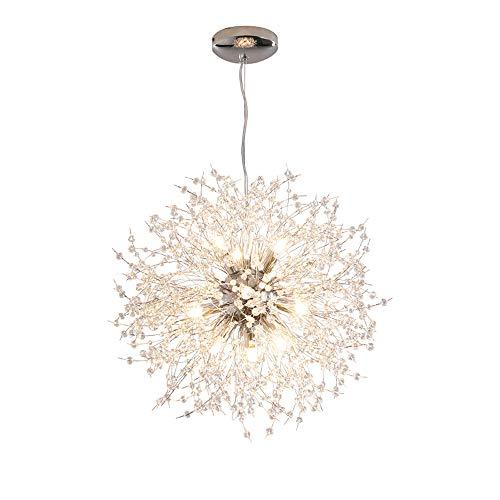 Dellemade DD00906 12-Lights Modern Sputnik Chandelier Dandelion Pendant Light,Silver