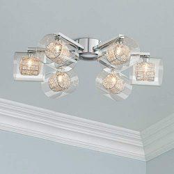 Possini Euro Wrapped Wire 24″ Wide Chrome Ceiling Light – Possini Euro Design