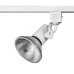 WAC Lighting LTK-178-WT L Series Line Voltage Track Head in White Finish (Renewed)