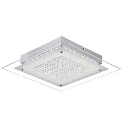 Crystal Close to Ceiling Light Fixtures Auffel Morden LED Flush Mount Lighting 11-Inch Dimmable  ...