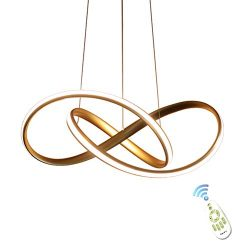HOUDES Gold Modern Acrylic Pendant Chandeliers Lighting LED Ceiling Light Fixture for Dining Roo ...