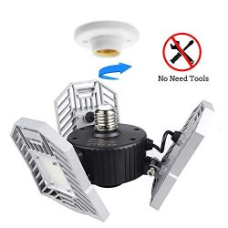 LED Garage Lights, LED Garage Lighting Deformable Light 6000LM, 60W Garage Ceiling LED Lights, L ...