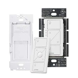 Lutron P-PKG1WB-WH Caseta Wireless Smart Dimmer Switch and Remote Kit, White