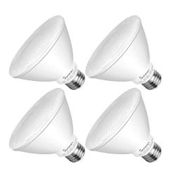 SUNEON LED Light Bulbs Par30 Short Neck LED Bulbs 75 Watt Equivalent Flood Light 11W 800Lumens 2 ...