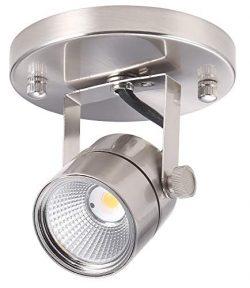 Cloudy Bay LED Track Light Head,CRI90+ Warm White Dimmable,Adjustable Tilt Angle Track Lighting  ...