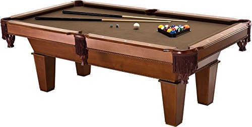 Fat Cat Frisco 7.5' Pool Table with Classic Style Billiard Pockets and Contemporary Straight Leg ...