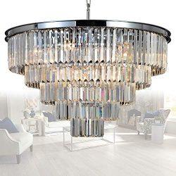 MEELIGHTING 16 Lights Crystal Chandelier Modern Chandeliers Lighting Pendant Ceiling Light Fixtu ...