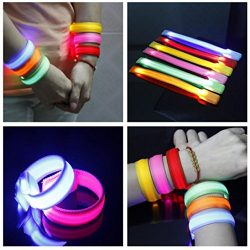 Sinwo LED Luminous Arm Bracelet Light Night Safety Warning LED Flash Light For Running Wristband ...