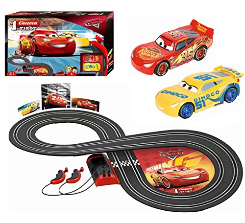 Carrera First Disney/Pixar Cars 3 – Slot Car Race Track – Includes 2 cars: Lightning ...