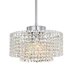 Mini Crystal Chandelier Modern Pendant Lighting Round Chandeliers Chrome Pendant Light 3 Light C ...