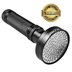 KOBRA UV Black Light Flashlight 100 LED #1 Best UV Light and Blacklight For Home & Hotel Ins ...