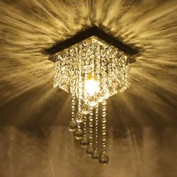 Beyonds Supreme Luxury Ceiling Light Flush Mounted Crystal Ceiling Lamp, 7.87″ X 7.87̸ ...