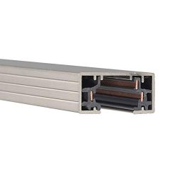 WAC Lighting HT6-BN 120V 6 Foot H Track with Mounting Hardware, Single Circuit, Brushed Nickel
