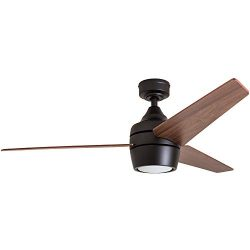 Honeywell 50603 Eamon Modern Ceiling Fan with Remote Control, 52″, Bronze