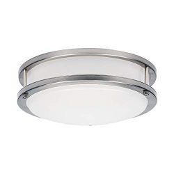 OSTWIN 12″ LED Ceiling Light Fixture Flush Mount, Dimmable, Round 20Watt (120W Repl.) 5000 ...