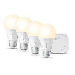 Sengled Smart LED Soft White A19 Starter Kit, 2700K 60W Equivalent, 4 Light Bulbs & Hub, Wor ...