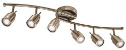 Lithonia Lighting LTFSTCYL MR16GU10 LED 27K 6H BN M4 6 Fixed-Track Lighting Kit, Brushed Nickel