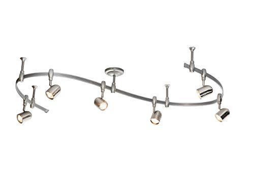 Catalina Lighting 19657-001 Benny 6 Bullet Flex Rail Track Lighting Kit, 96″ Bronze (Renewed)