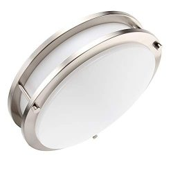 Lineway Motion Sensor Light LED Flush Mount Ceiling Light Fixture 18W 12″ Warm White Indoo ...