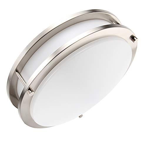 Lineway Motion Sensor Light LED Flush Mount Ceiling Light Fixture 18W 12″ Warm White Indoo ...