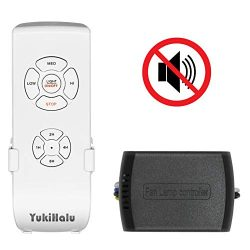 YUKIHALU Small Size Buzzer Mute Option Universal Ceiling Fan Remote Control kit with Light and T ...