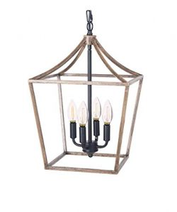 Homenovo Lighting Marden Farmhouse 4-Light Chandelier